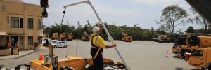 Crane Deck Tether Pole